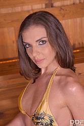 Lust Galore: Sensual Posing in Hot Sauna Makes You Cum